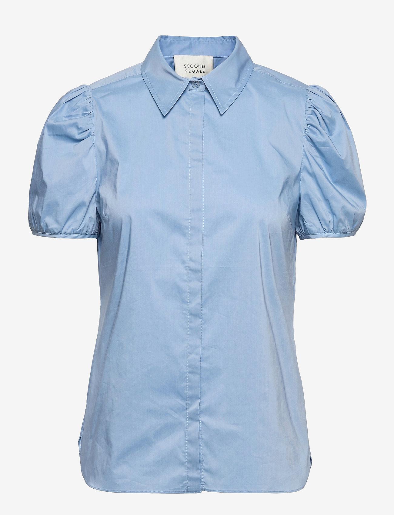 Second Female - Glasgow Shirt - kortärmade skjortor - bel air blue - 1