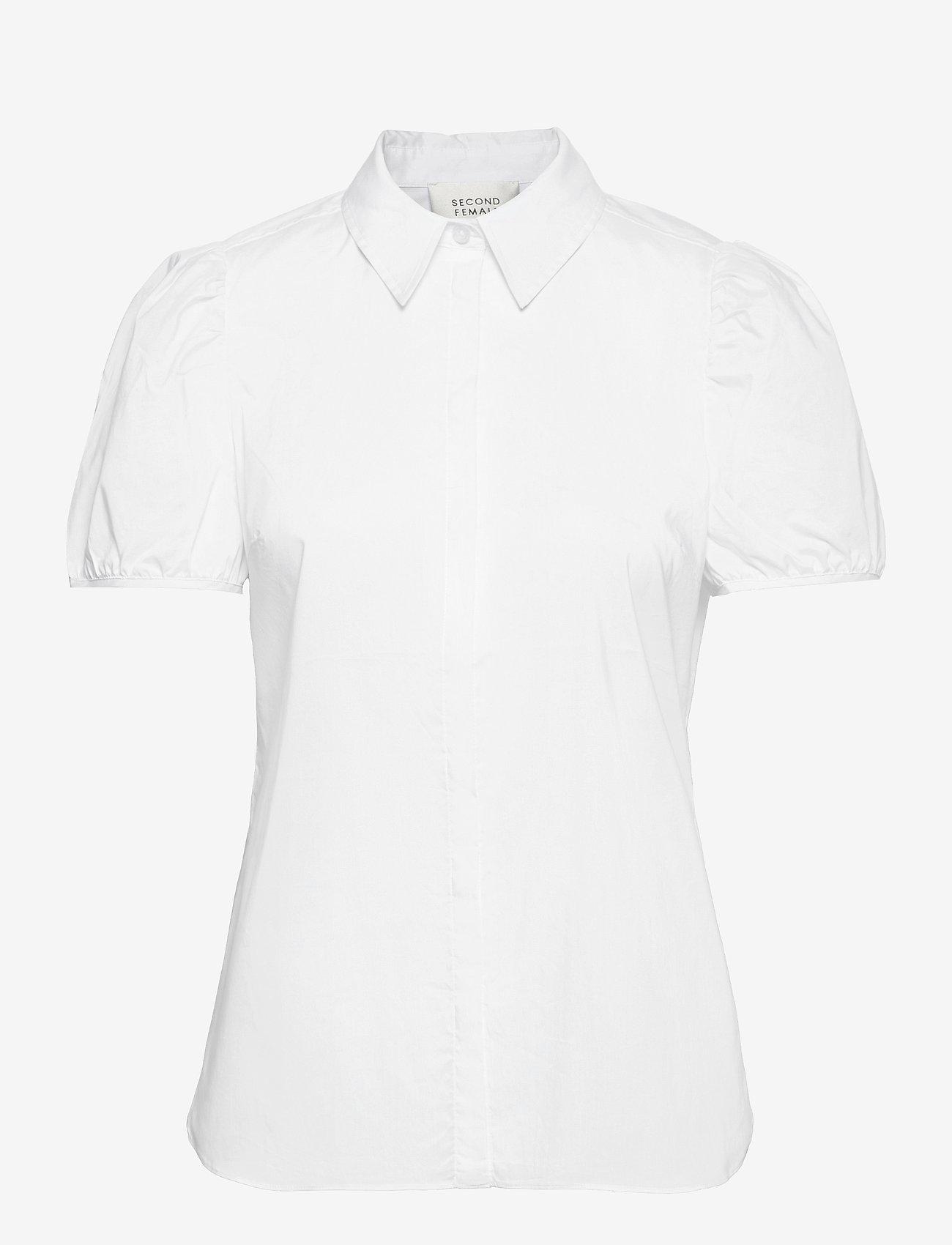 Second Female - Glasgow Shirt - kortärmade skjortor - bright white - 1