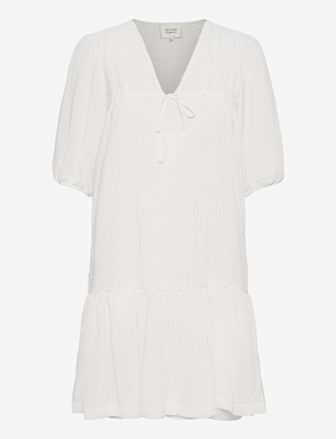 Second Female - Tara Dress - sommarklänningar - bright white - 1