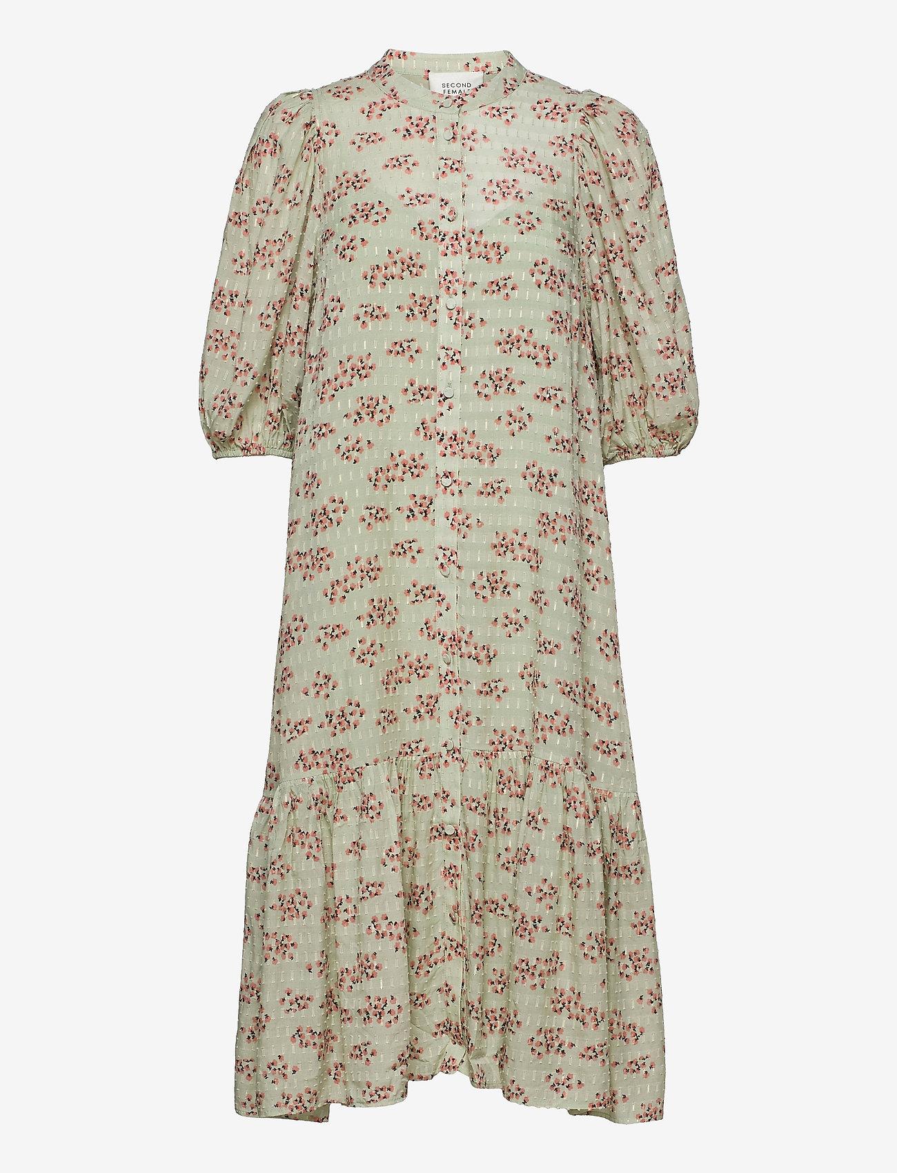 Second Female - Pune Shirt Dress - sommarklänningar - dessert sage - 1