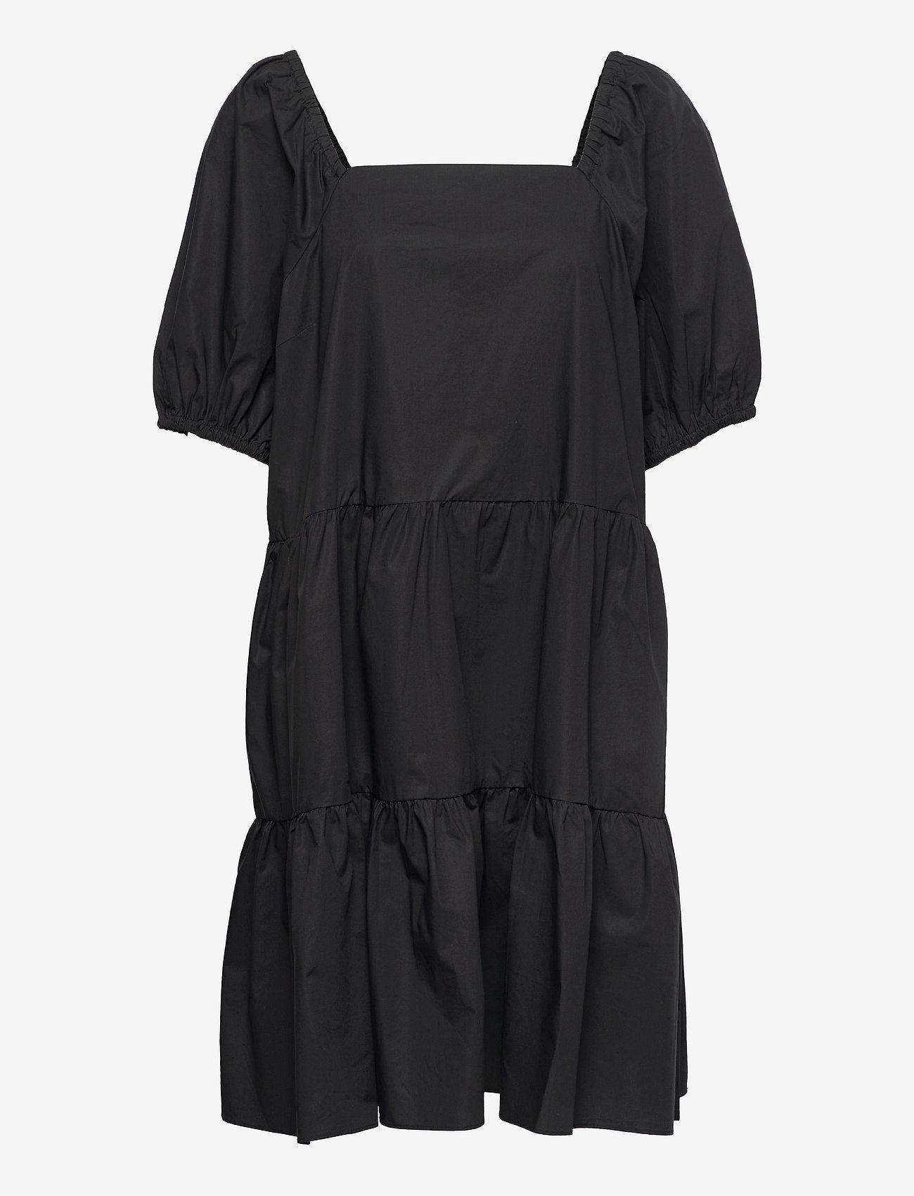 Second Female - Athena Dress - sommarklänningar - black - 0