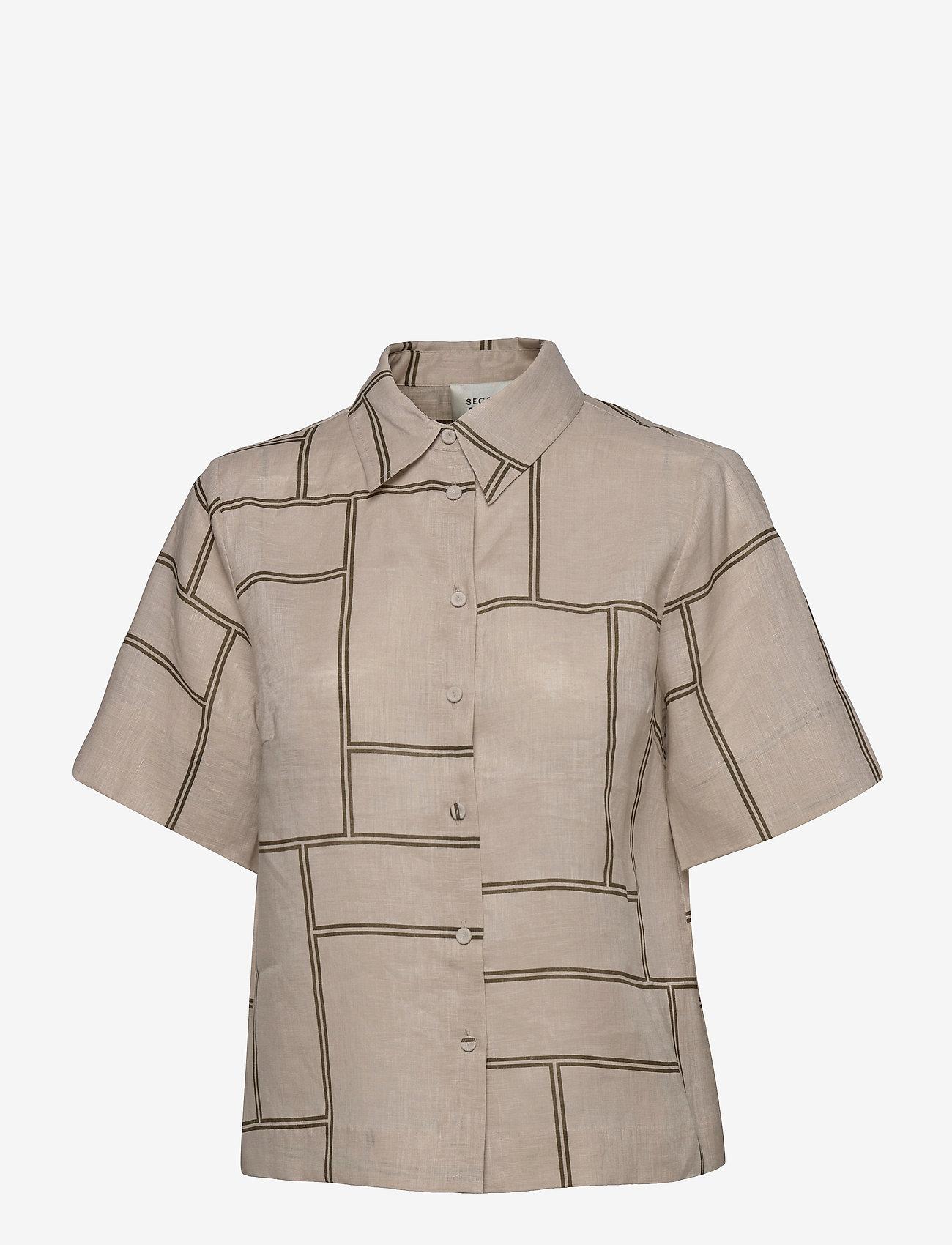 Second Female - Laval Shirt - kortärmade skjortor - parchment - 1