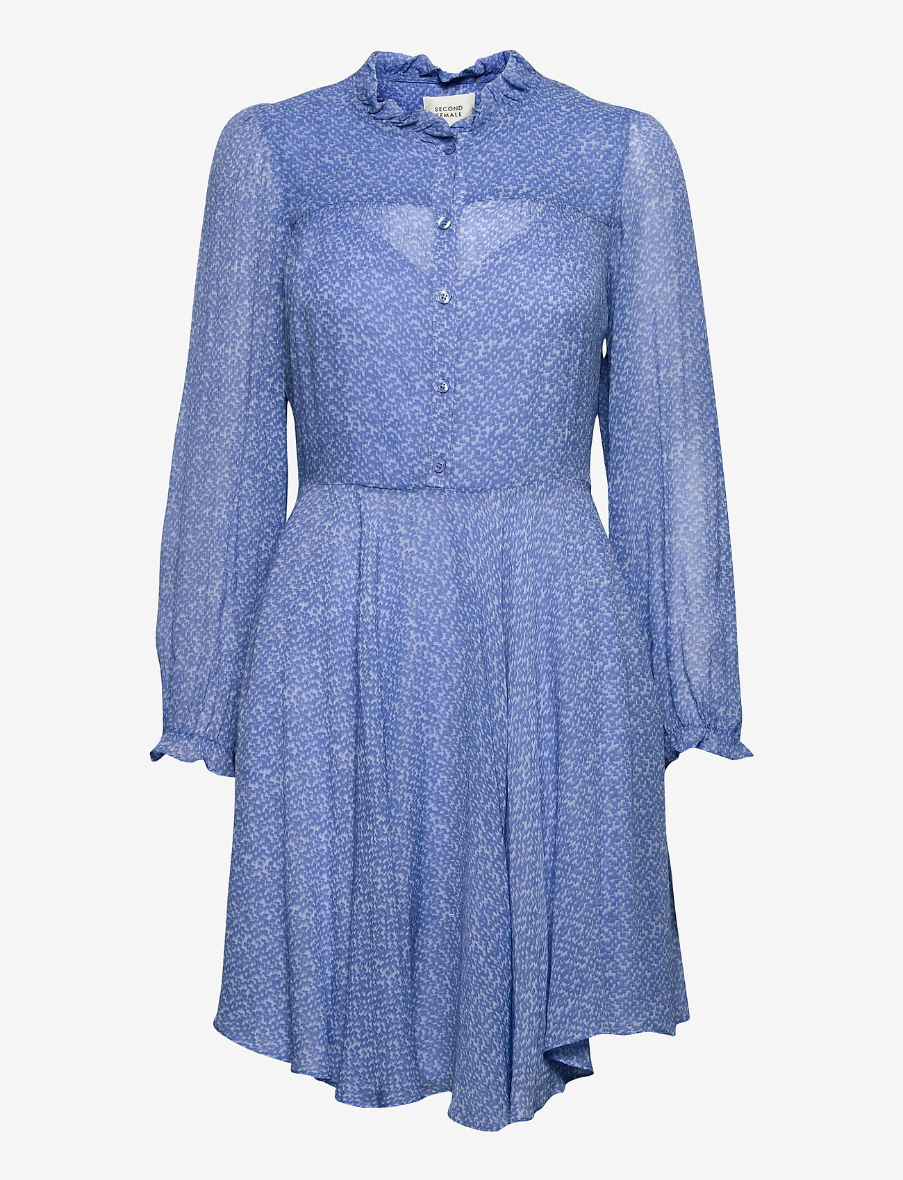 Second Female - Mano Plisee Dress - sommarklänningar - blue bonnet - 0