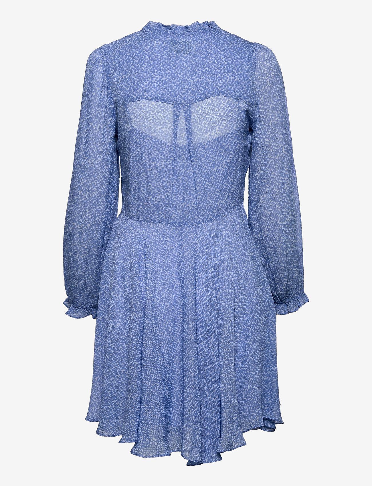 Second Female - Mano Plisee Dress - sommarklänningar - blue bonnet - 1