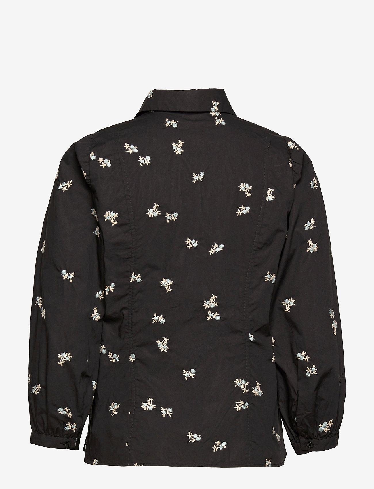 Second Female - California Shirt - långärmade blusar - black - 1