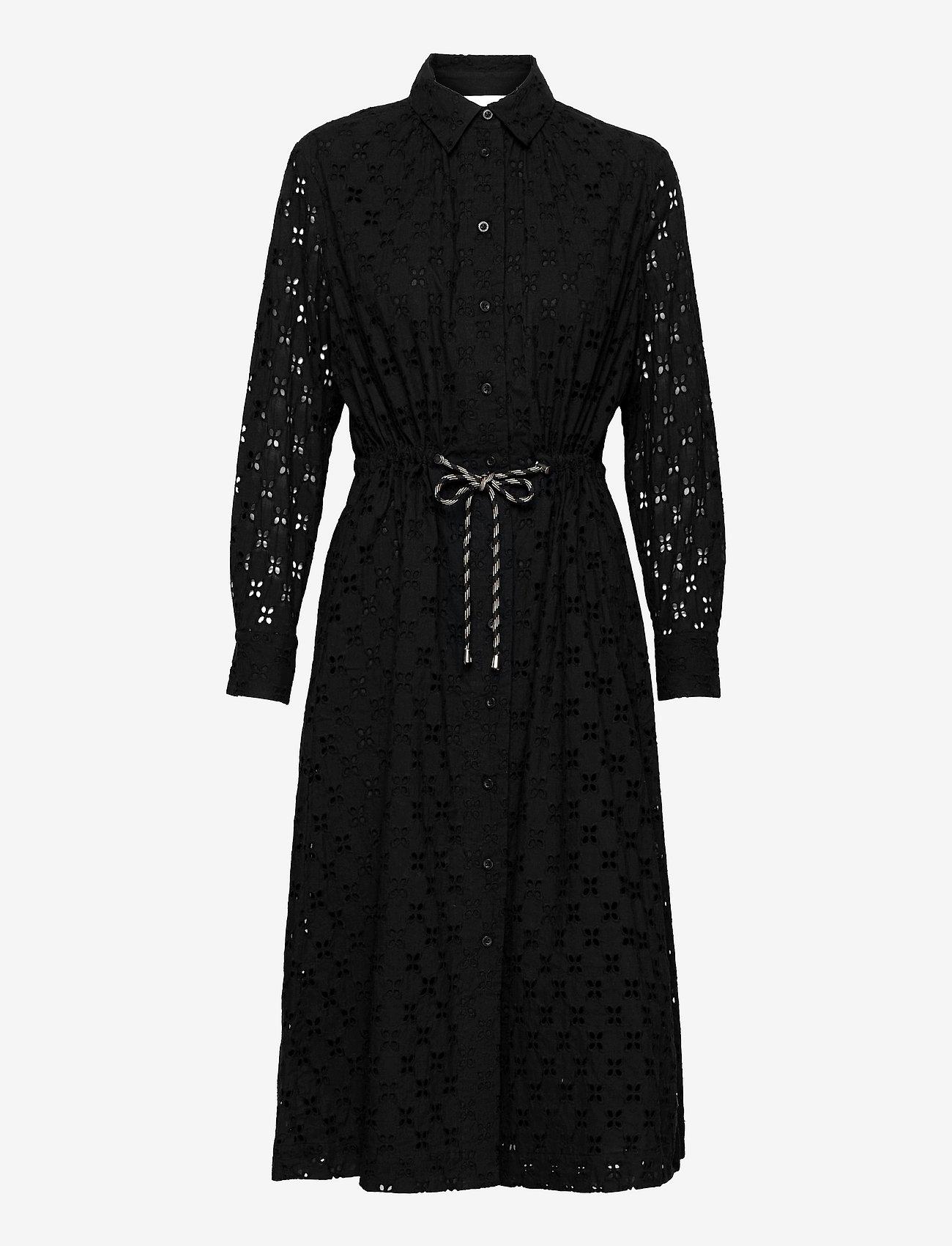 Second Female - Thelma Dress - spetsklänningar - black - 1