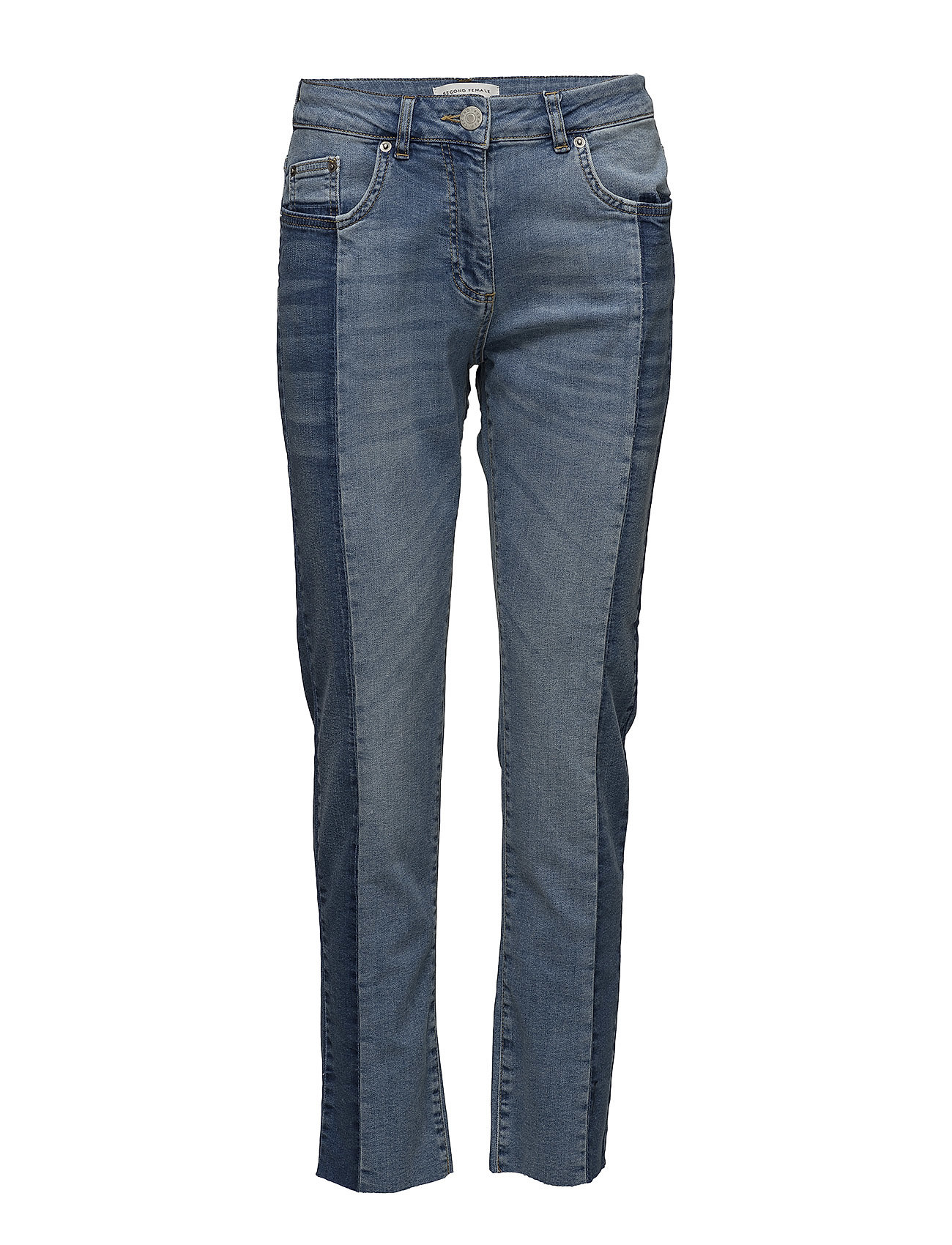 Second Female Nala MW Jeans - LIGHT BLUE DENIM