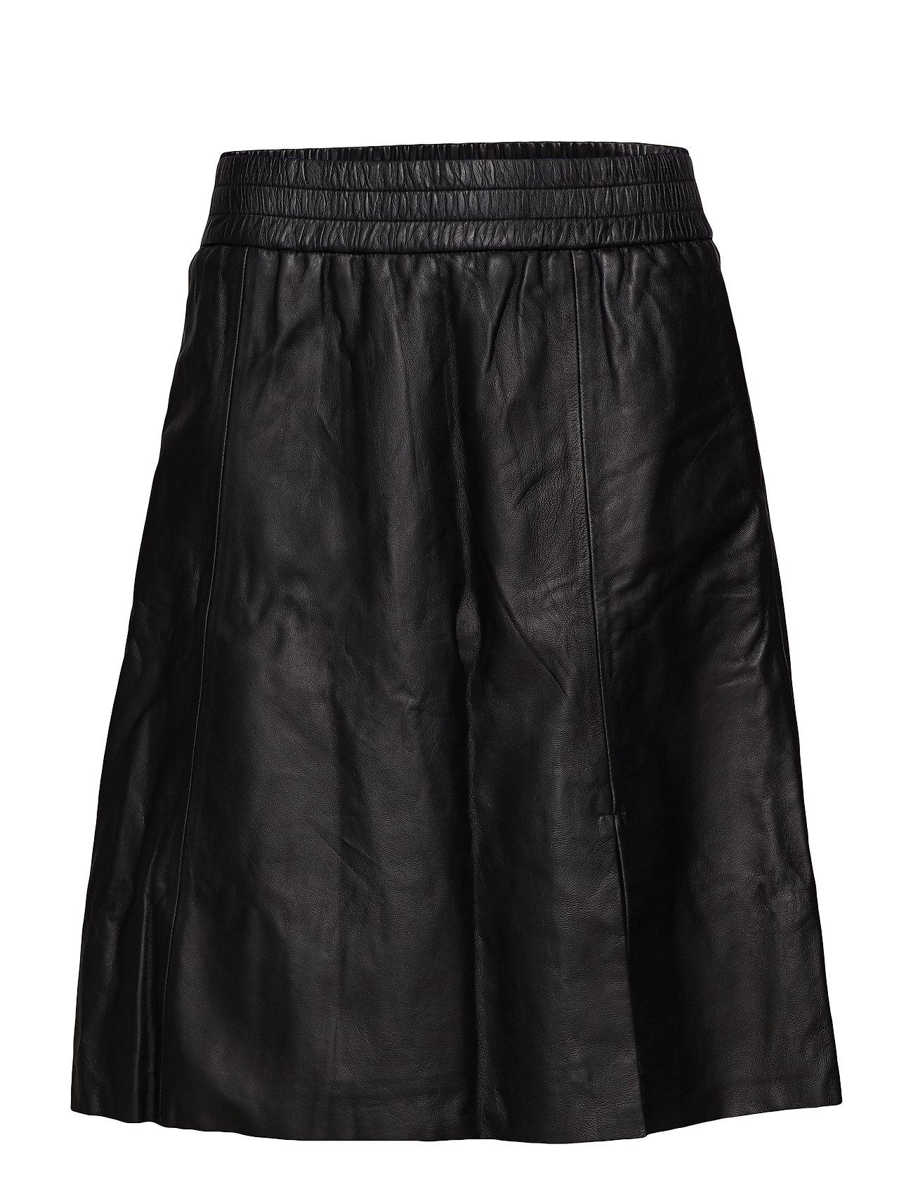 Second Female Melvin Leather Skirt - BLACK