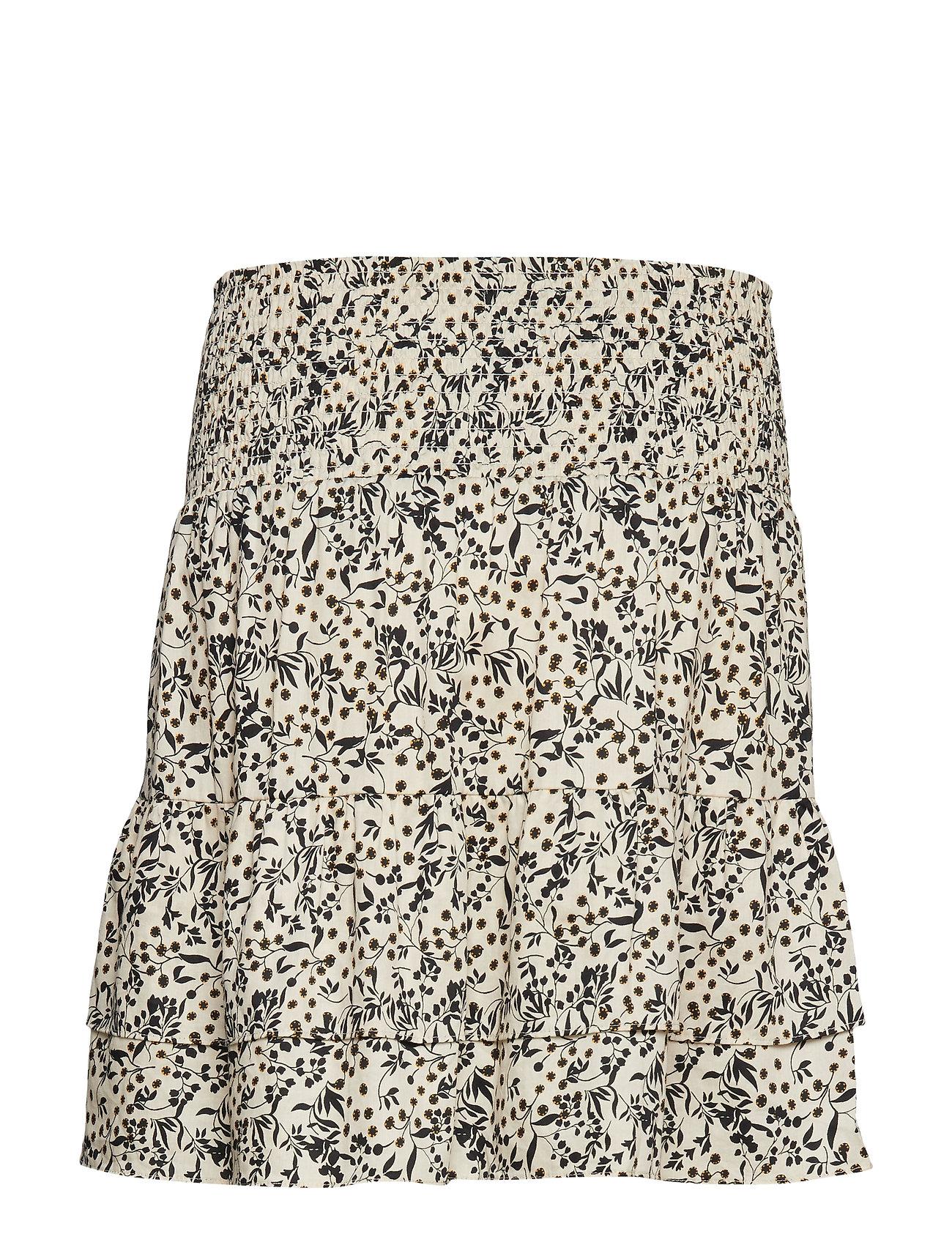 Wisely Short Skirt Kort Nederdel Creme SECOND FEMALE