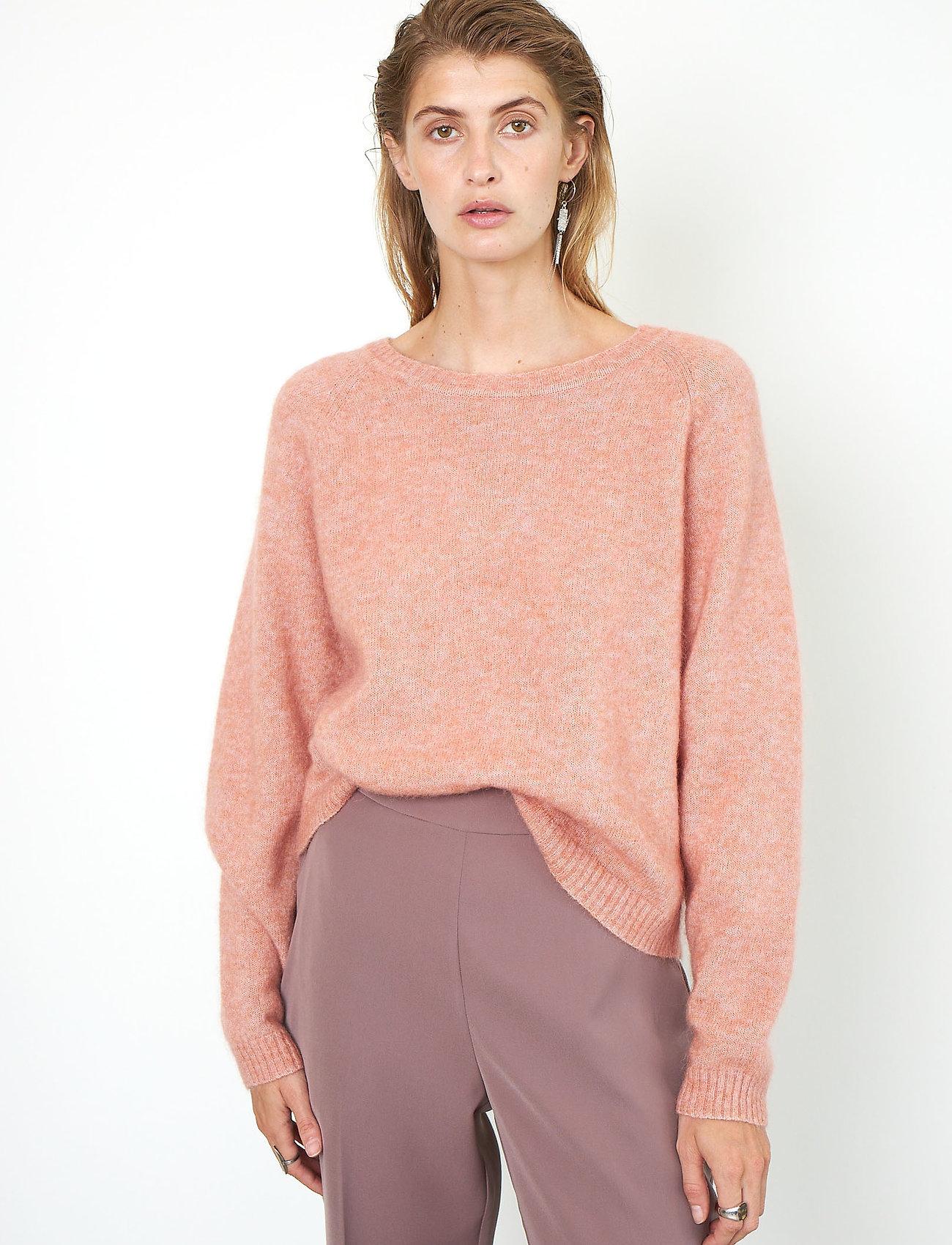 Second Female - Brook Knit O-Neck - tröjor - light mahagony - 0
