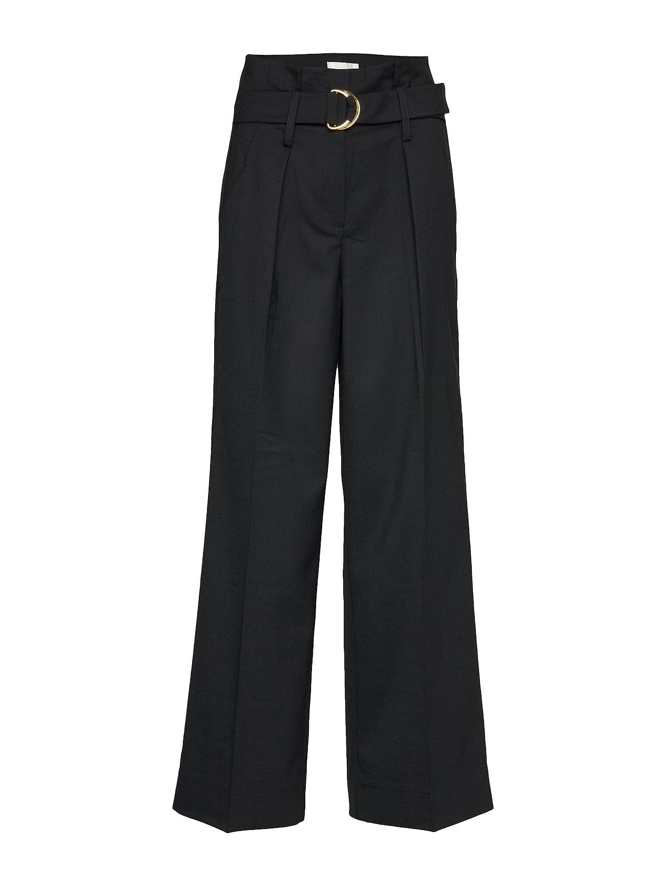 Second Female Moyet HW Trousers - BLACK