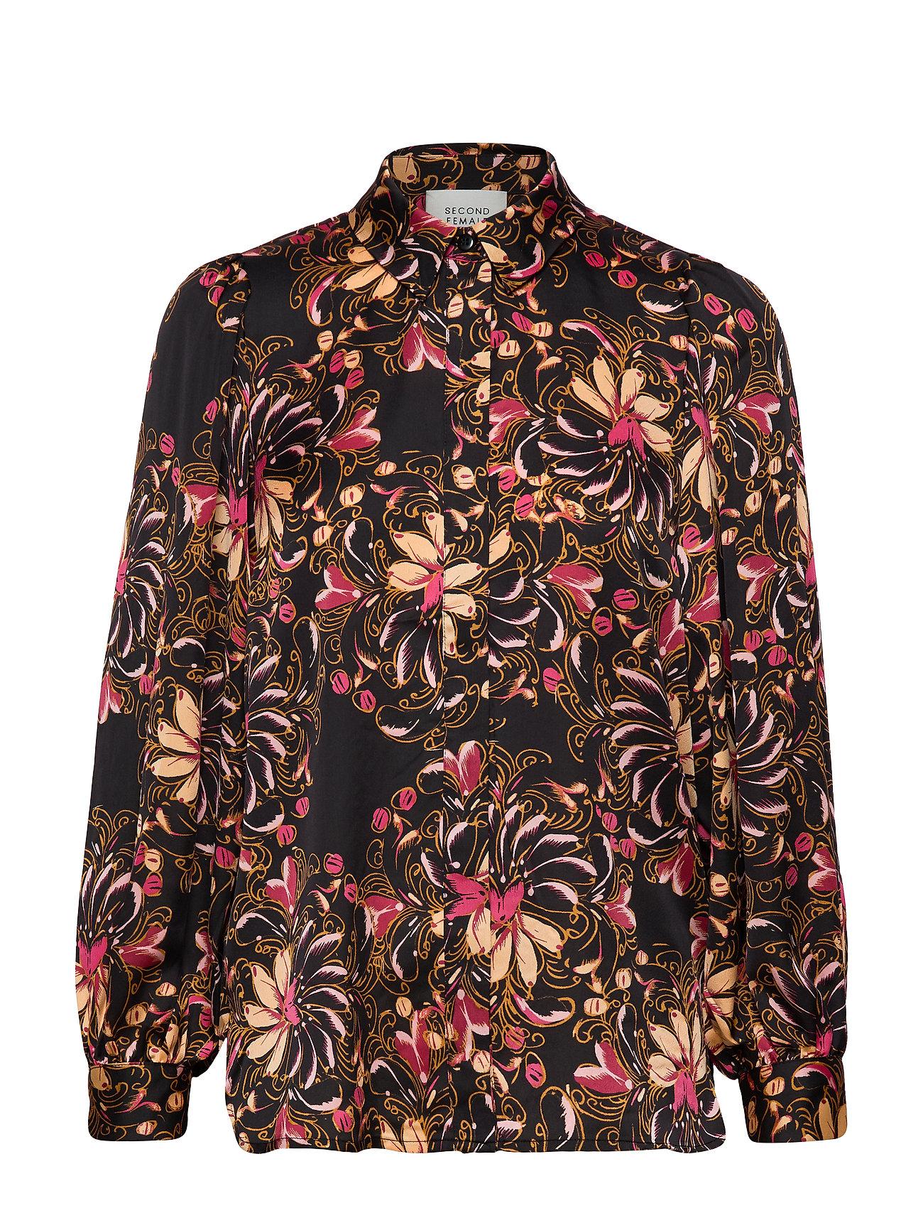 Second Female Power LS Shirt - BLACK