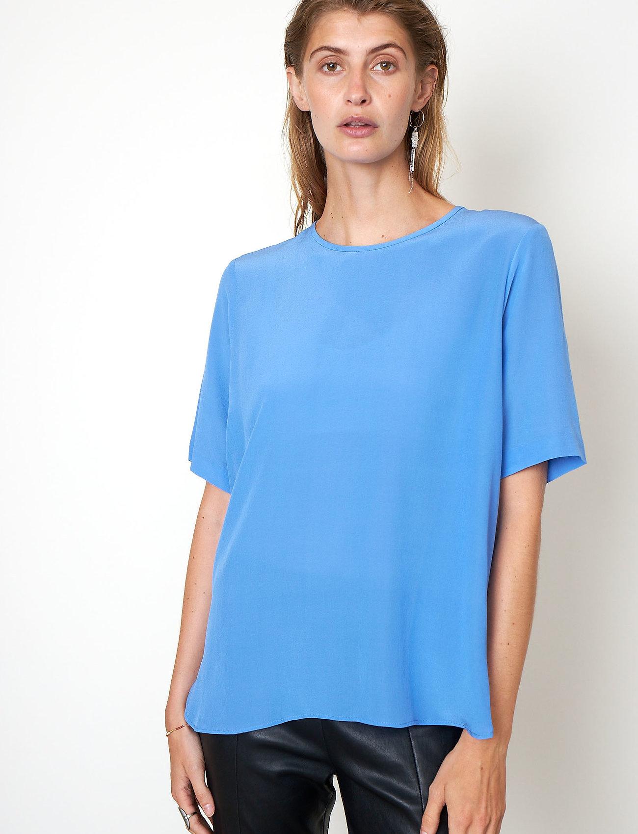 Second Female - Tonga Silk SS T-Shirt - t-shirts - blue bonnet - 0
