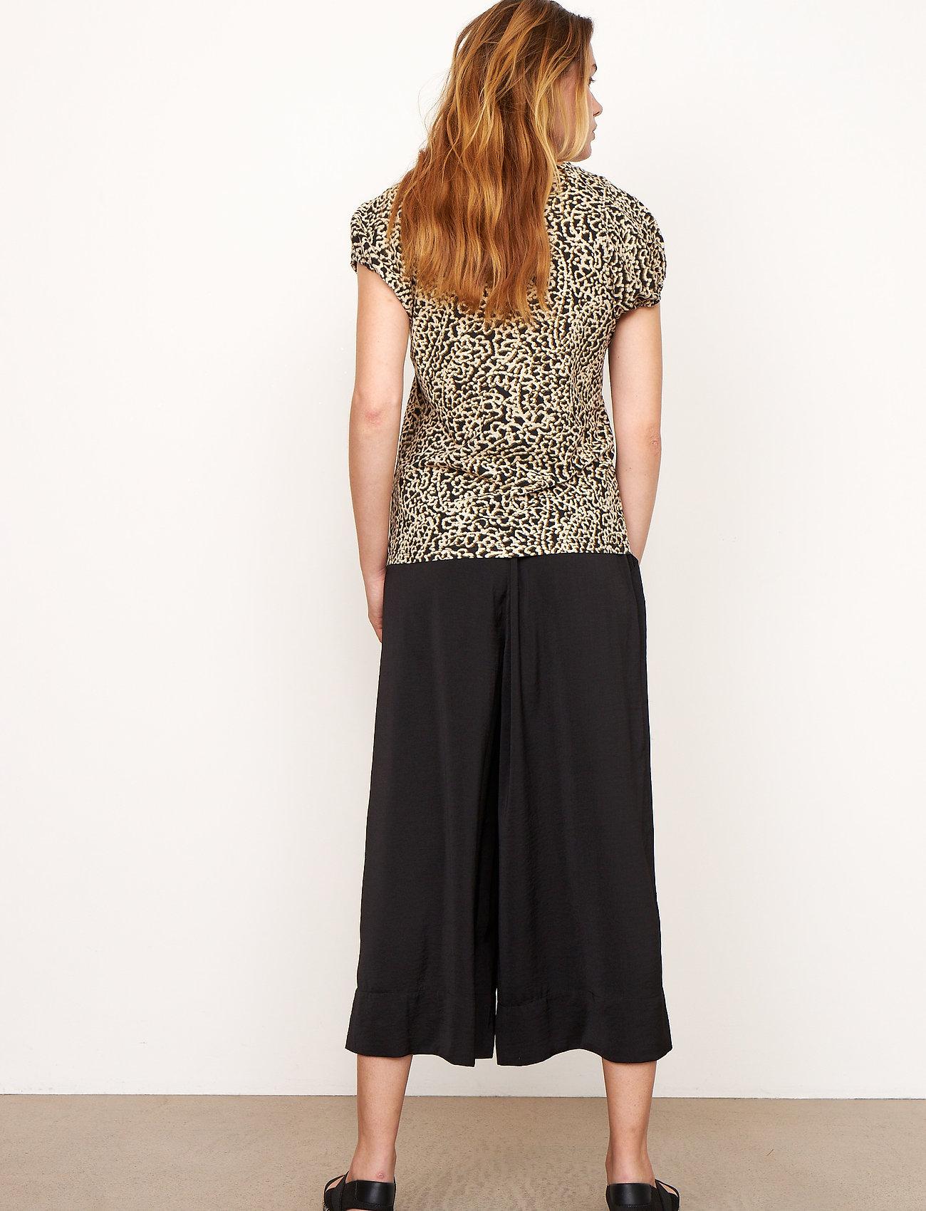 Second Female - Minga New Trousers - bukser med brede ben - black - 0
