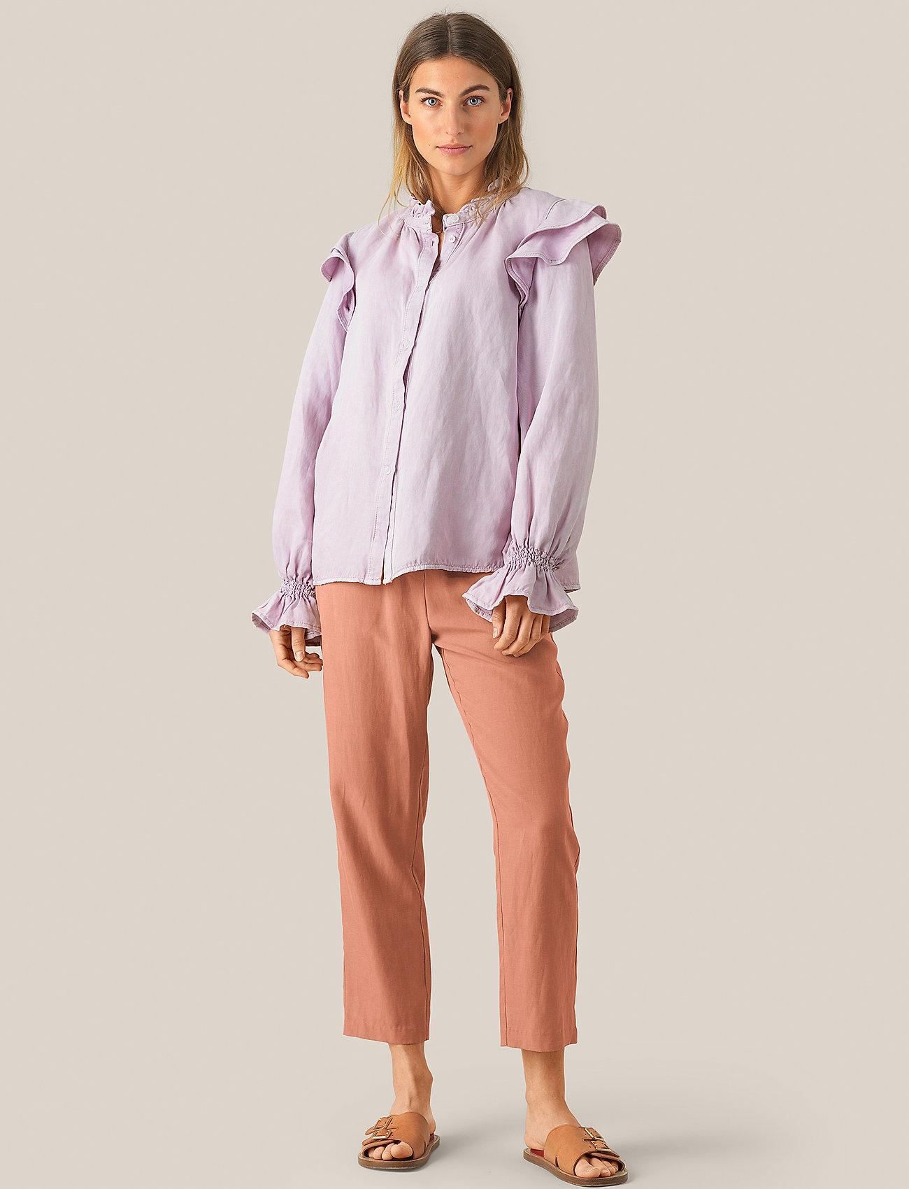Second Female - Nukani MW Trousers - rette bukser - mocha mousse - 0