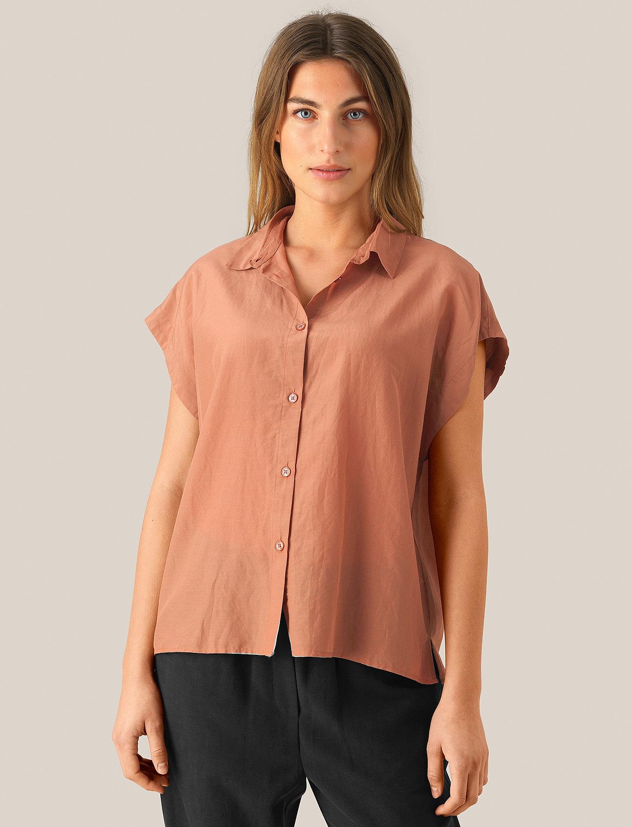 Second Female - Auso Shirt - kortermede skjorter - mocha mousse - 0
