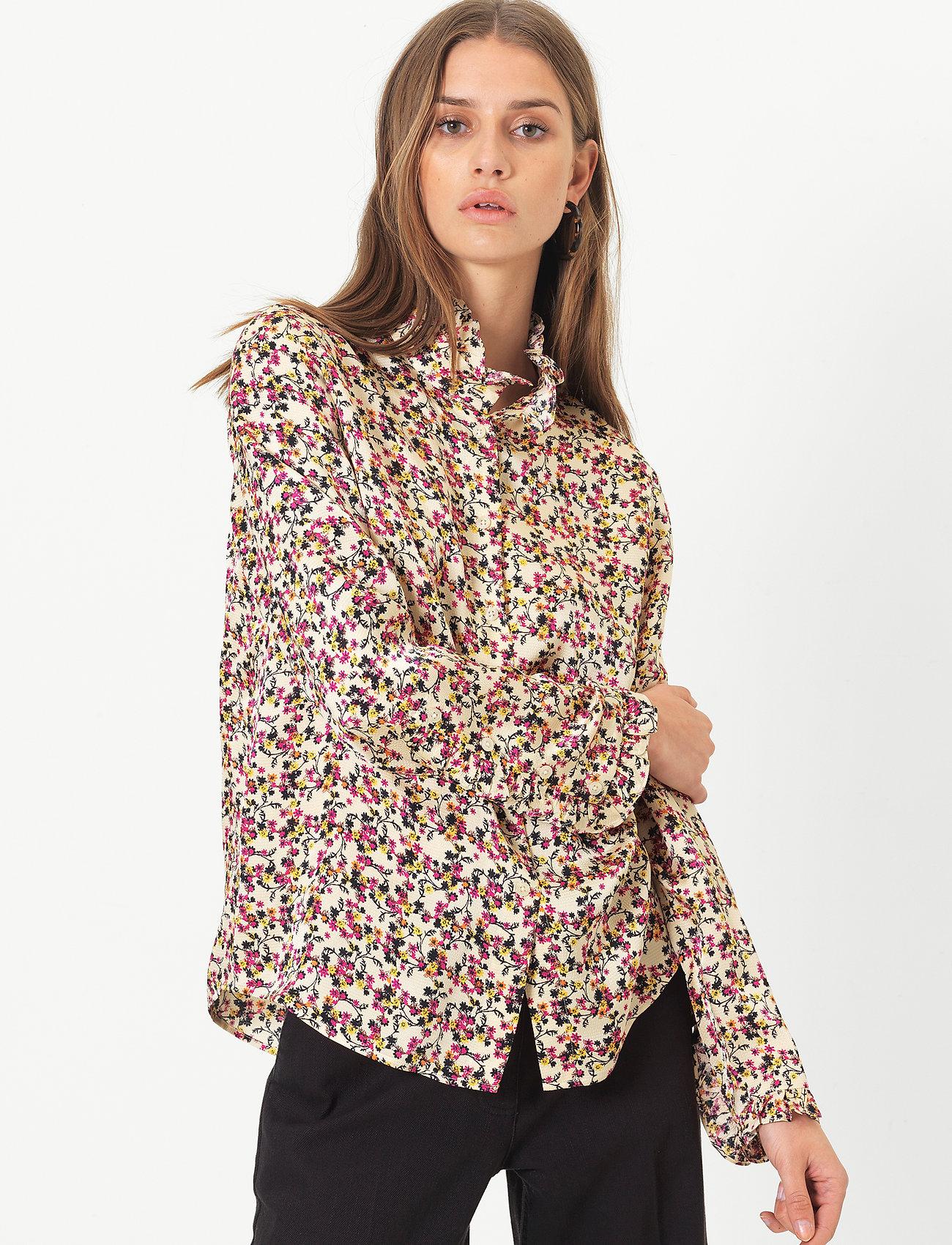 Second Female - Decor Shirt - långärmade blusar - marzipan - 0
