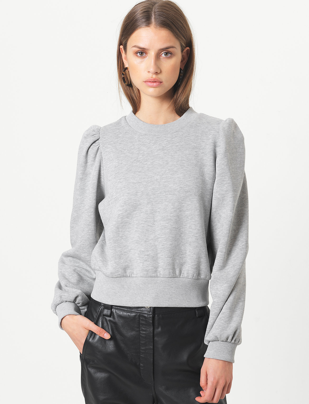 Second Female - Carmella Sweat - sweatshirts - light grey melange - 0