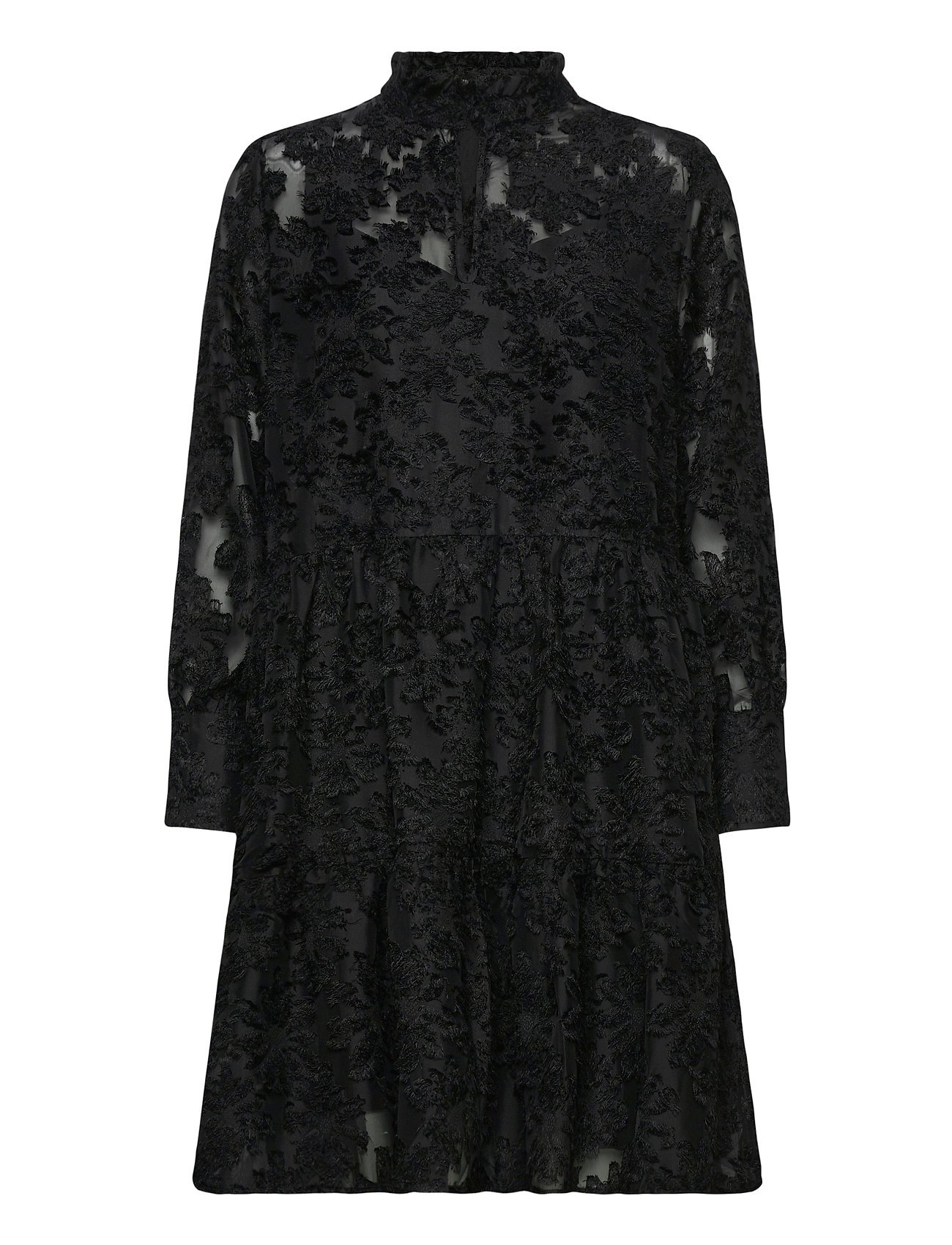 Image of This Midi Dress Has A Unique Polyester Quality. Th E Dress F Knælang Kjole Sort Second Female (3475120077)