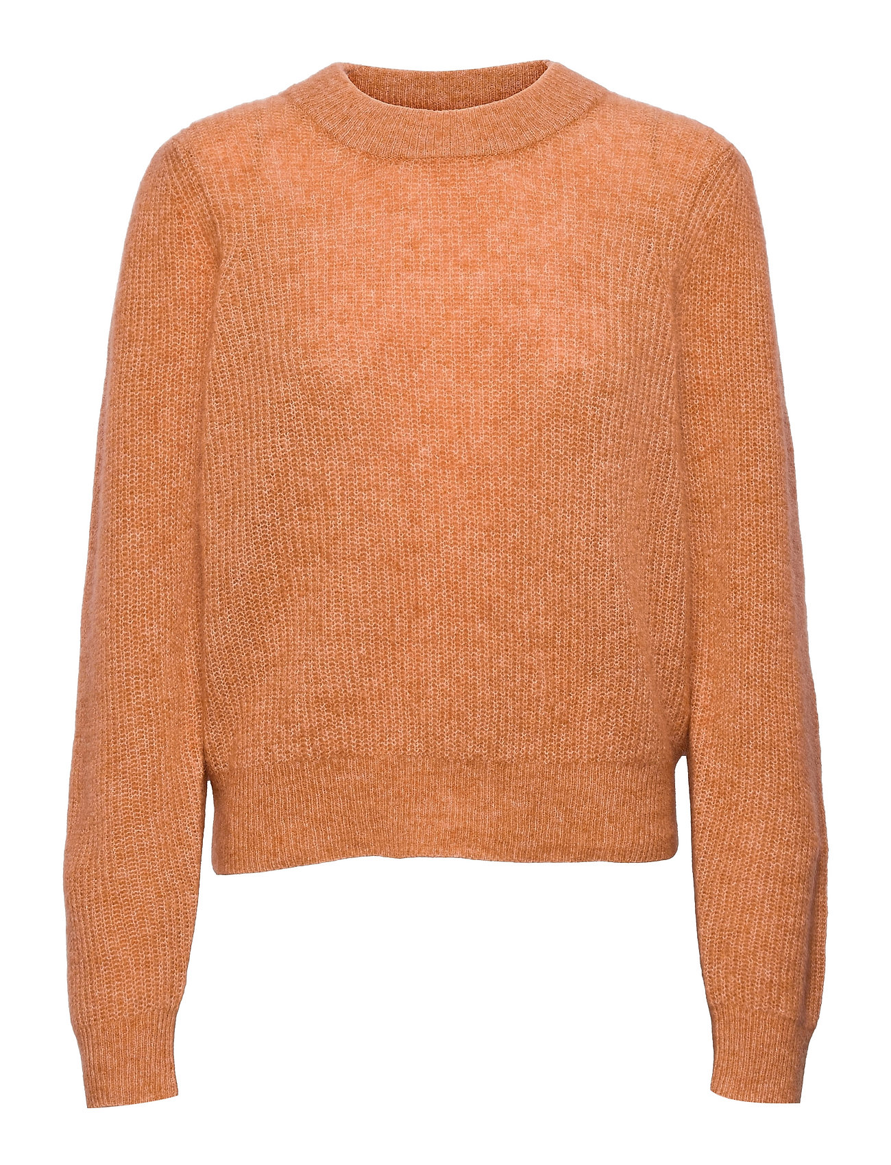 Brooky Knit Puff O-Neck Strikket Trøje Orange Second Female
