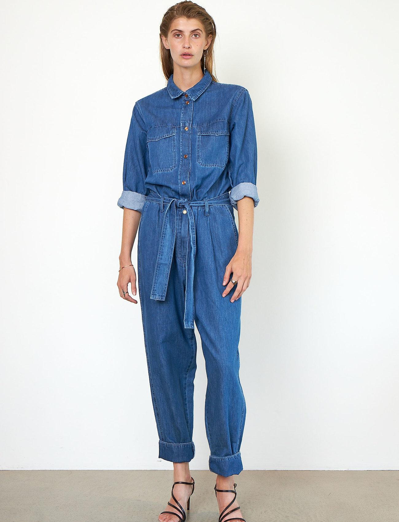 Second Female - Ingrid Jumpsuit - kläder - blue denim - 0