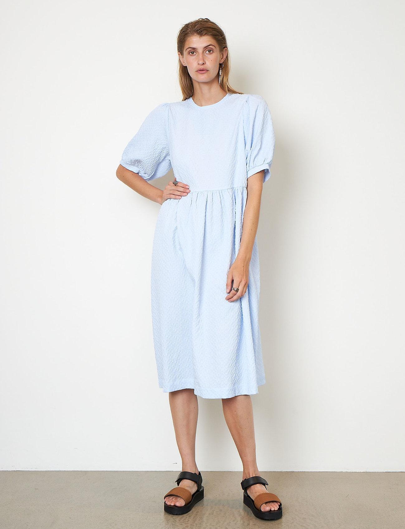 Second Female - Leah Dress - sommarklänningar - brunnera blue - 0
