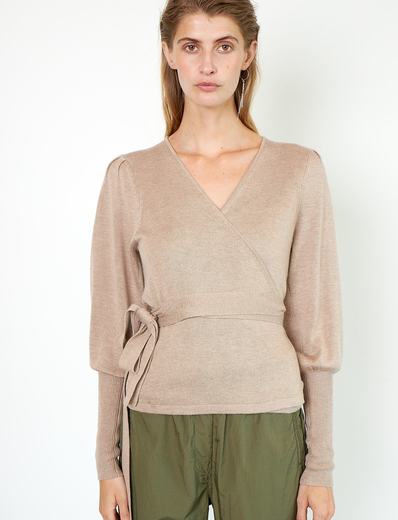 Second Female - Ebba Knit Cardigan - koftor - ginger root - 0