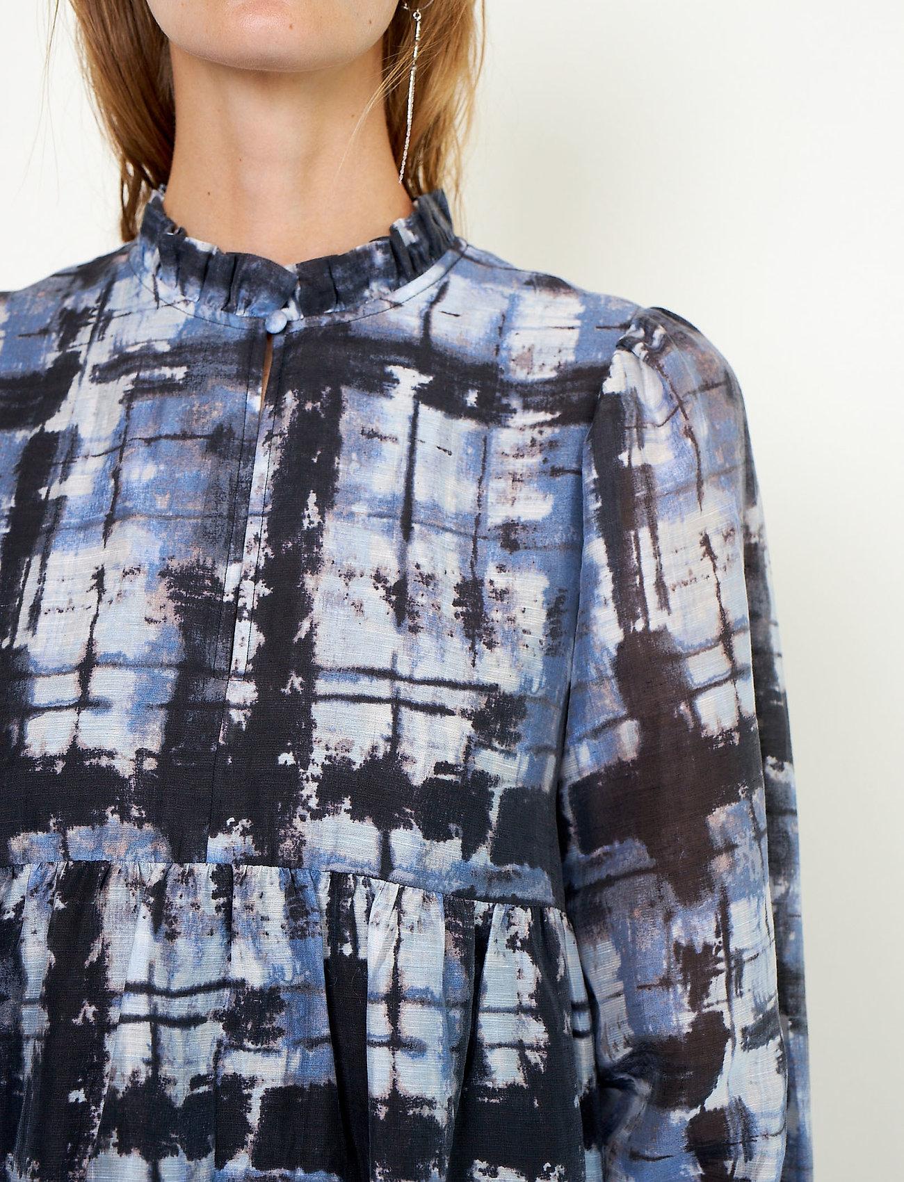 Second Female - Imprint Dress - sommerkjoler - blue shadow - 5
