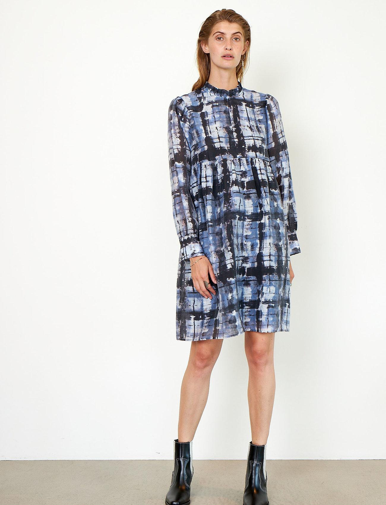 Second Female - Imprint Dress - sommerkjoler - blue shadow - 6
