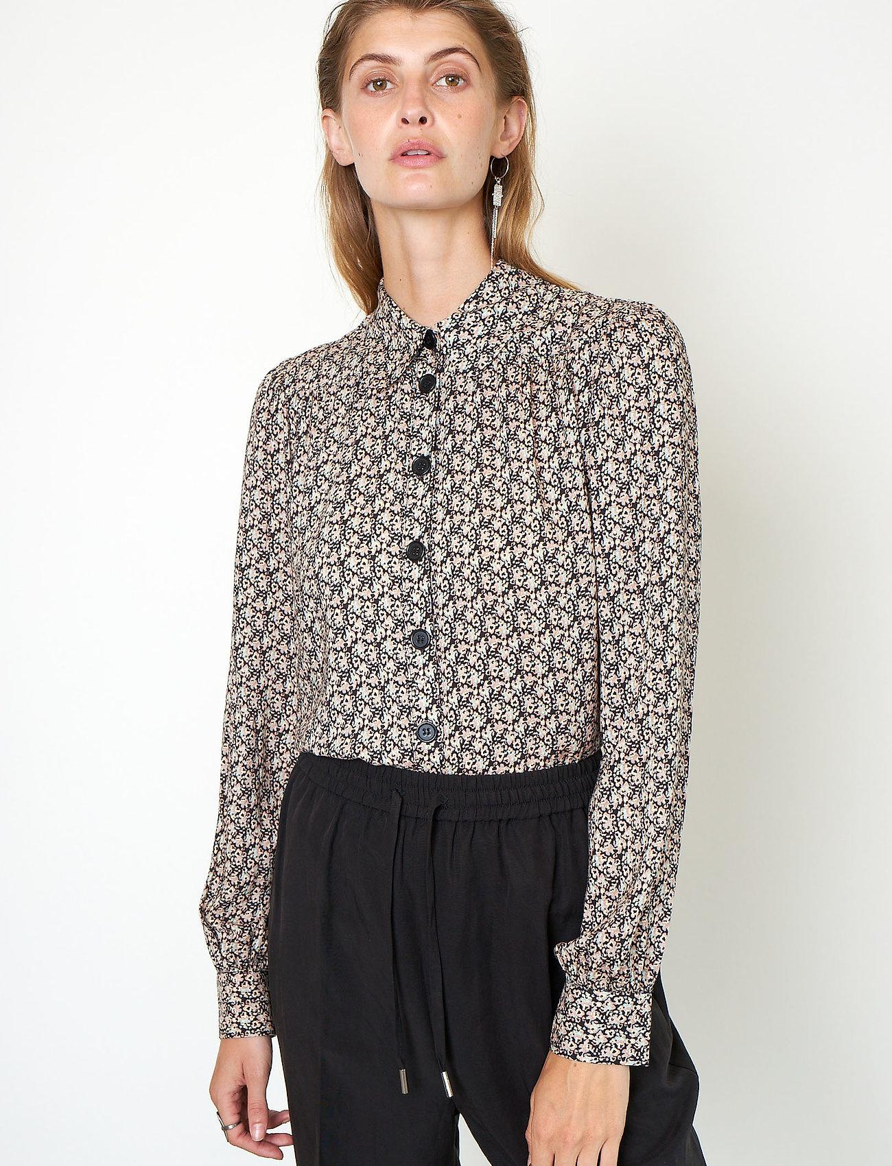 Second Female - Frank Shirt - långärmade skjortor - black - 0