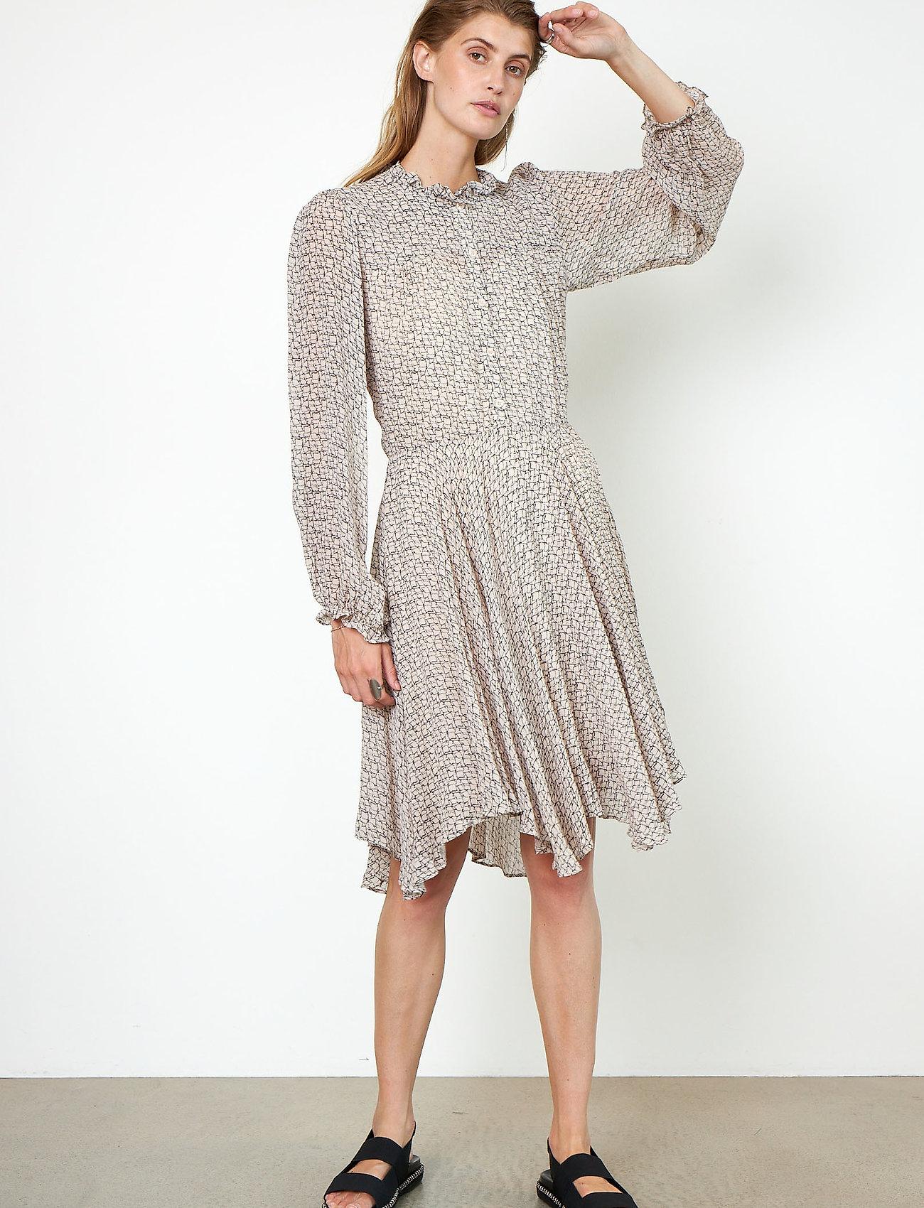 Second Female - Lacing Dress - vardagsklänningar - cement - 0