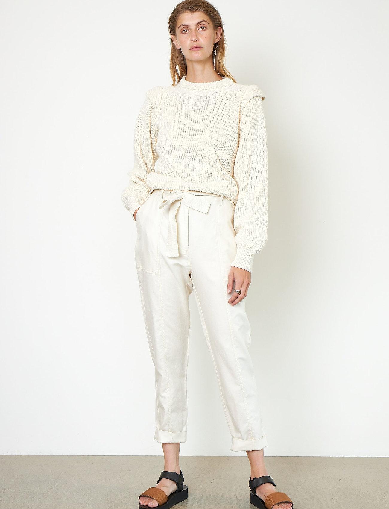 Second Female - Selene New Track Trousers - raka byxor - white swan - 0