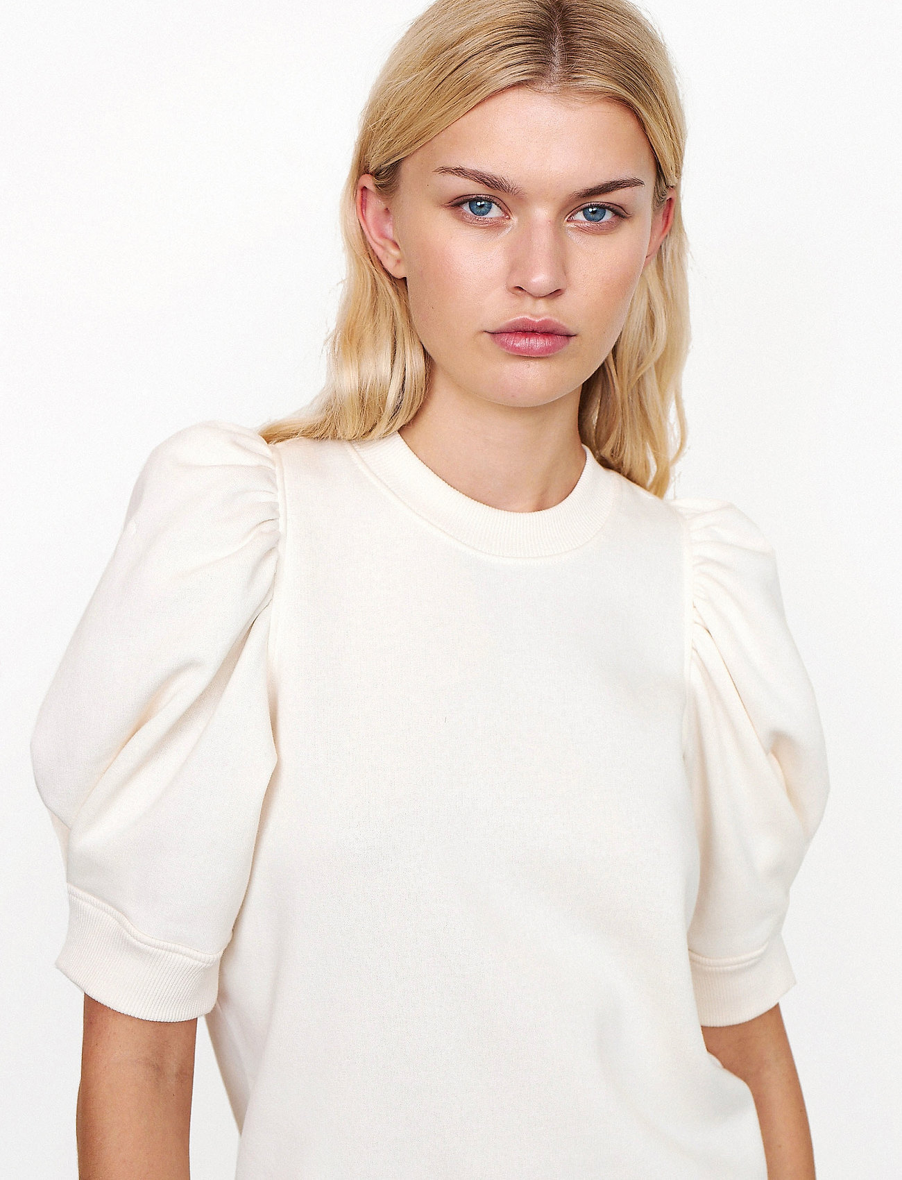 Second Female - Miami Sweat Tee - t-shirts - off white - 0