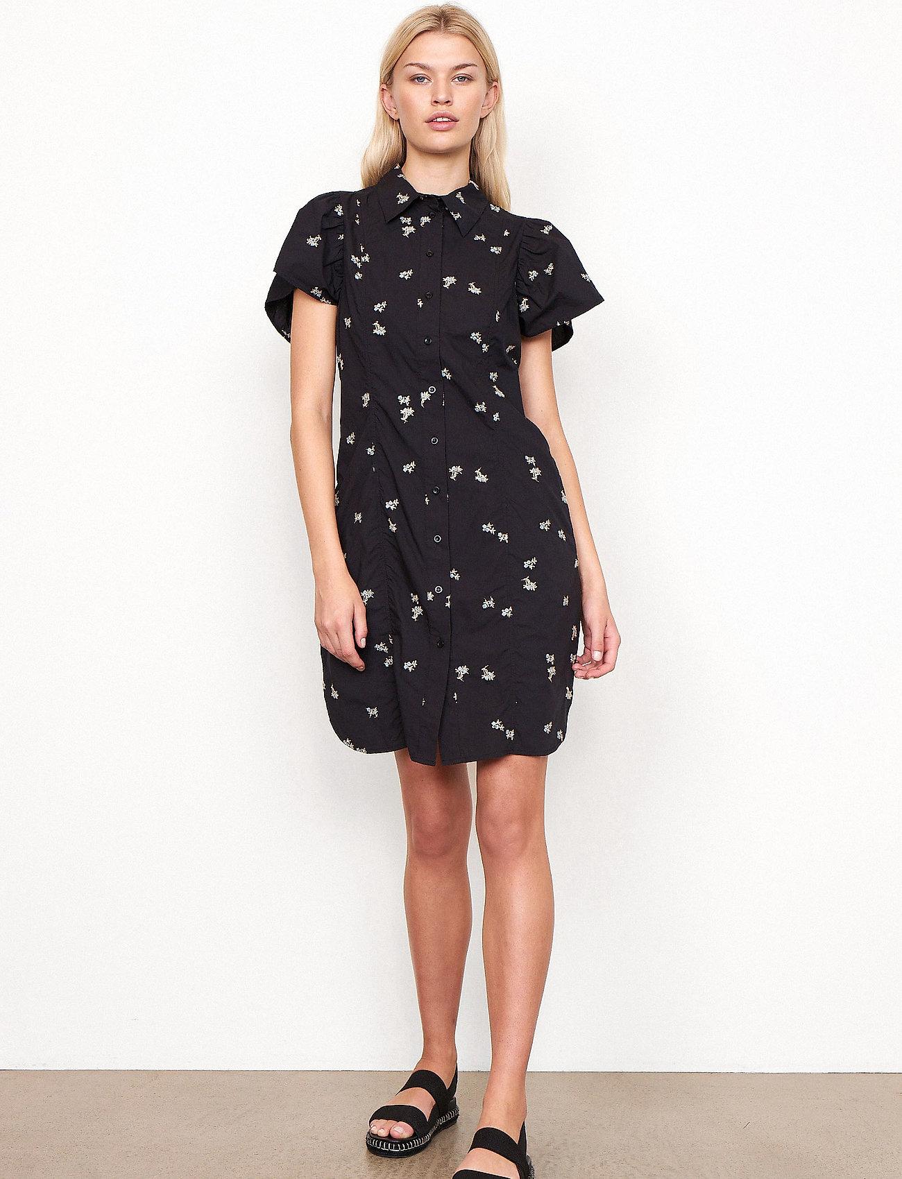 Second Female - California Dress - sommarklänningar - black - 0