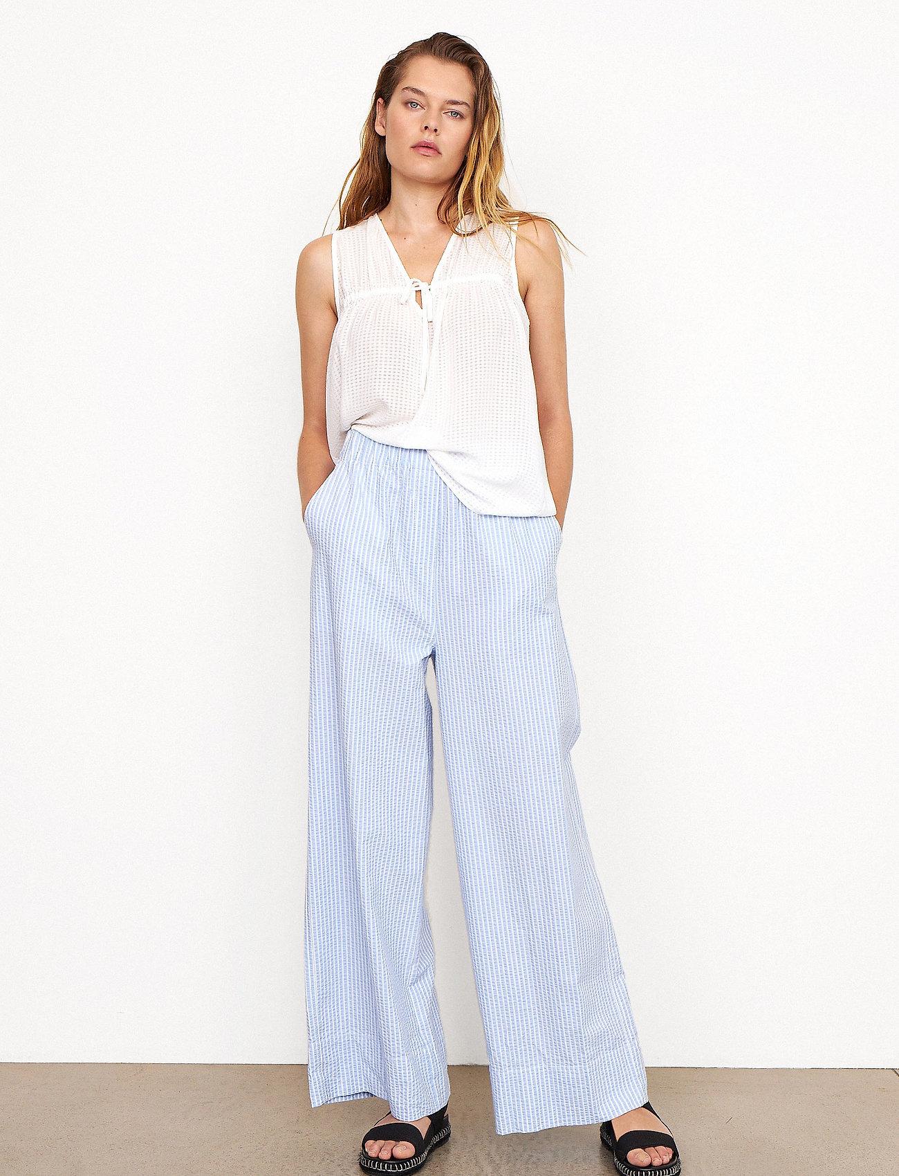 Second Female - Cairo Trousers - bukser med brede ben - bel air blue - 0