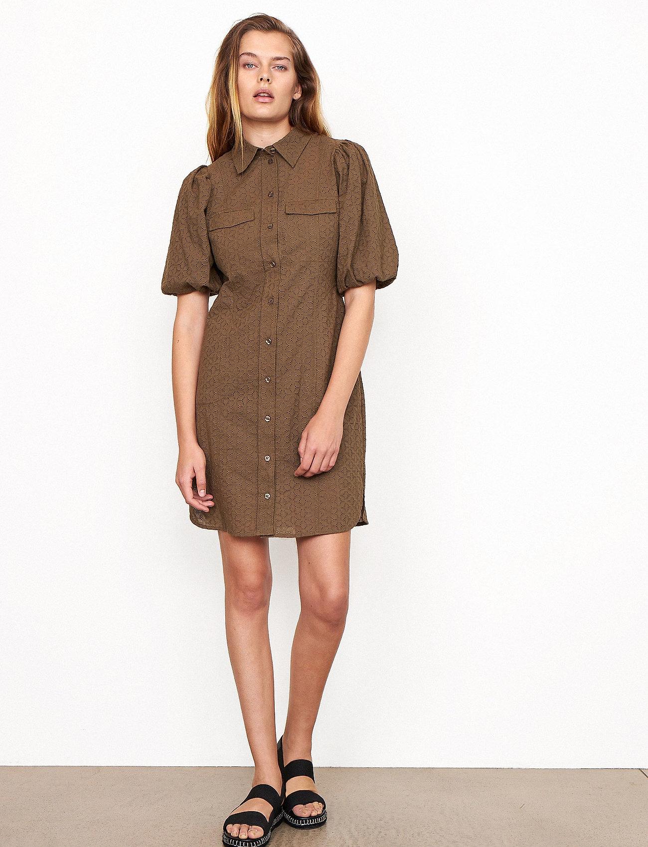 Second Female - Bilbao Mini Dress - sommarklänningar - stone green - 0