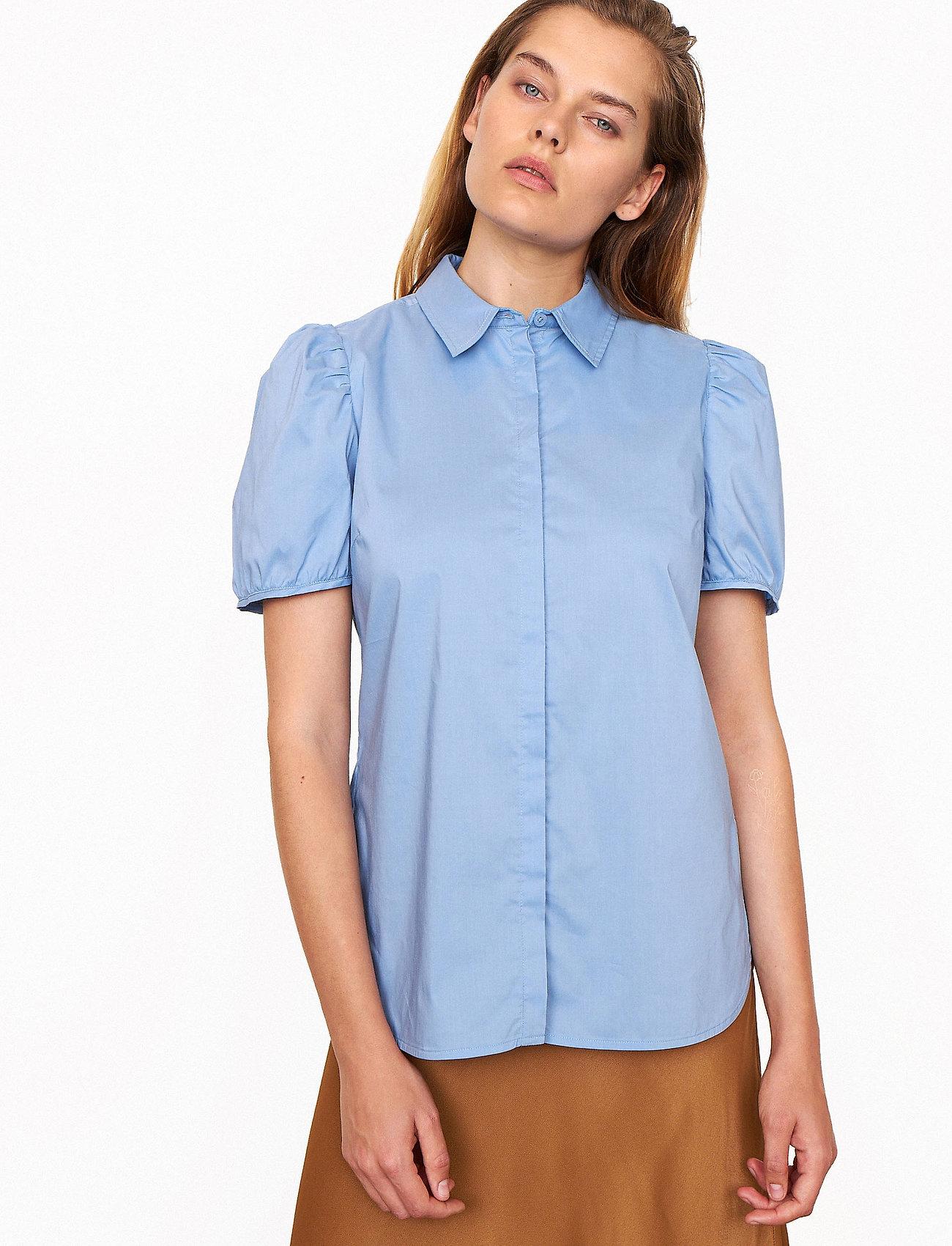 Second Female - Glasgow Shirt - kortärmade skjortor - bel air blue - 0
