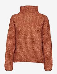 Second Female - Ambra Knit T-neck - pulls col roulé - carnelian - 0