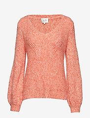 Second Female - West Knit V-Neck - jumpers - gossamer pink - 0