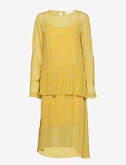 Second Female - Olivia Dress - midi dresses - sunshine - 0