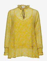 Second Female - Olivia Blouse - long sleeved blouses - sunshine - 0