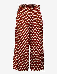 Second Female - Spotty HW Trousers - wide leg trousers - rustic brown - 0