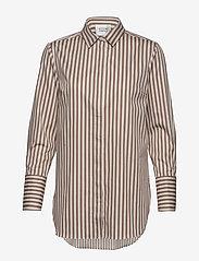 Second Female - Dane Stripe Shirt - long-sleeved shirts - tiger`s eye - 0