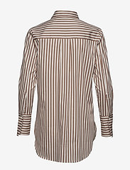 Second Female - Dane Stripe Shirt - long-sleeved shirts - tiger`s eye - 1