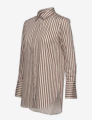 Second Female - Dane Stripe Shirt - long-sleeved shirts - tiger`s eye - 2