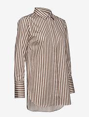 Second Female - Dane Stripe Shirt - long-sleeved shirts - tiger`s eye - 3