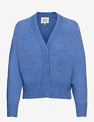 Second Female - Brook Knit Boxy Cardigan - koftor - bel air blue - 0