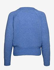 Second Female - Brook Knit Boxy Cardigan - koftor - bel air blue - 1