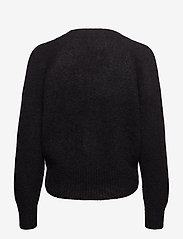 Second Female - This cardigan with deep V-neck is made from a soft  mohair-w - gensere - black - 1
