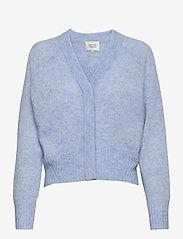 Brook Knit Boxy Cardigan - BRUNNERA BLUE